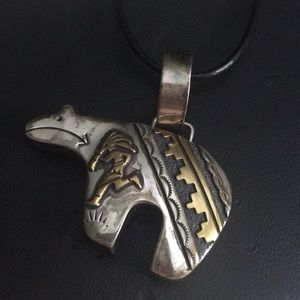Tommy singer sterling silver Buffalo necklace